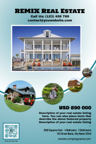 Flat Real Estate Flyer - Featured Property Version