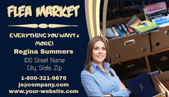 Flea Market Business Card
