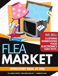 Flea Market Flyer (format US Letter) template