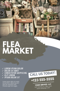 Flea Market Flyer Design Template Poster