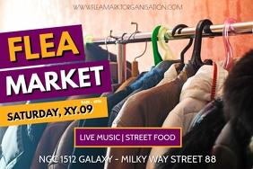 Flea Market Garage Sale Auction Poster Banner Bannière 4' × 6' template