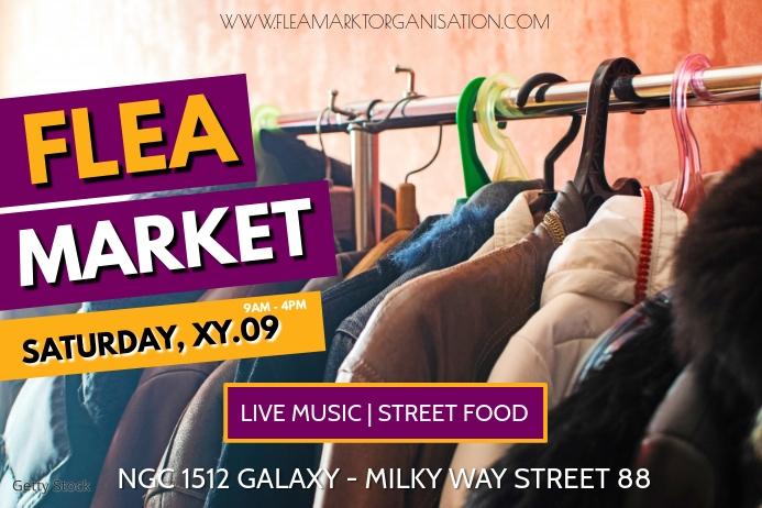 Flea Market Garage Sale Auction Poster Banner