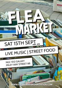 Flea Market Garage Sale Auction Poster Flyer