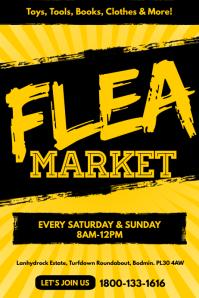 Flea Market Poster Flyer Template