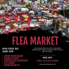Flea market Video design instagram