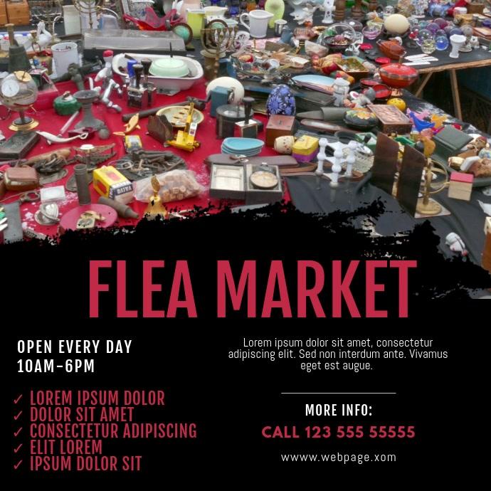 Flea market Video design instagram Cuadrado (1:1) template