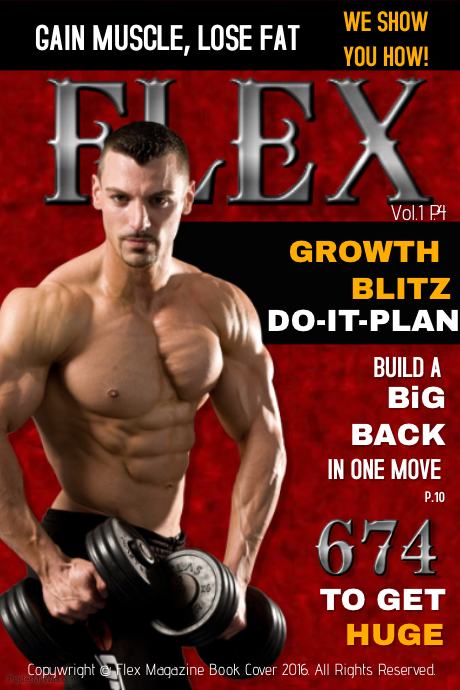 flex muscle magazine template postermywall