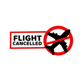 Flight Cancelled Hazard Logo template
