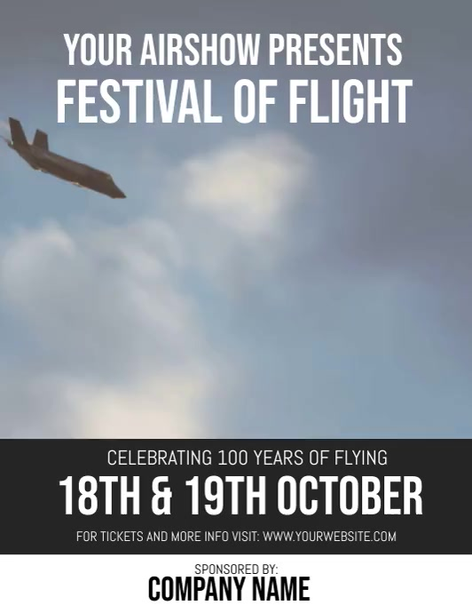Flight Flyer DIGITAL VIDEO Template