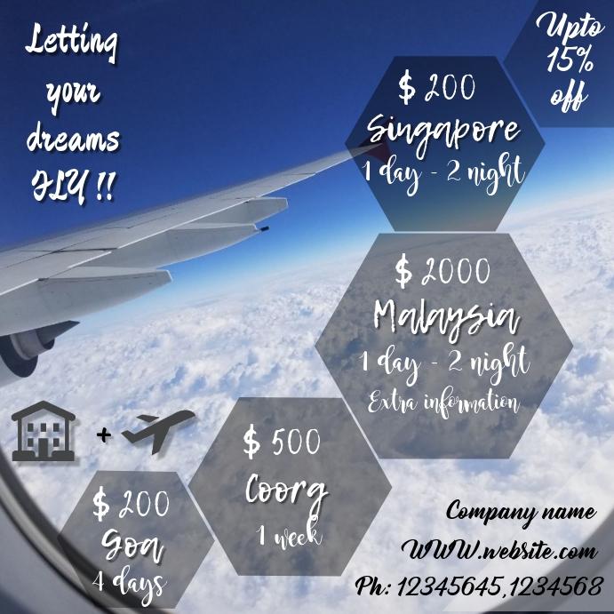 Flight offers template/flyer