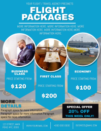 Flight Packages Travel Agency Flyer template