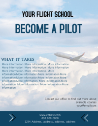 Flight School Flyer Template