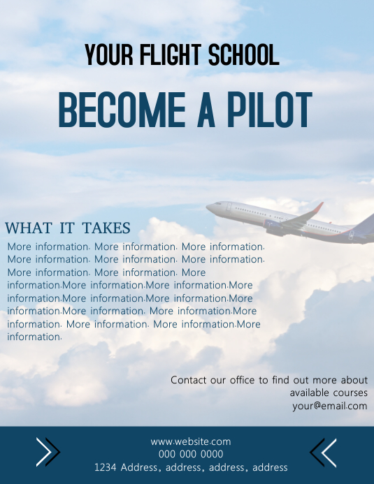 Flight School Flyer Template