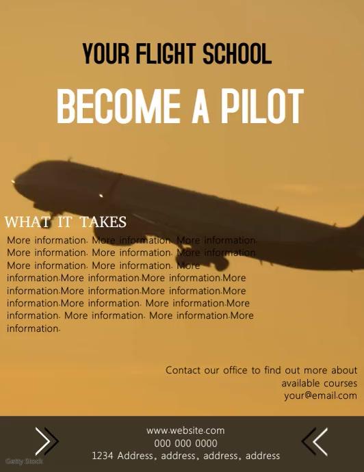 Flight School Video Flyer Template