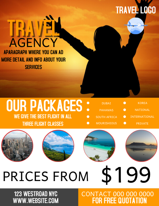 FLIGHT TRAVEL AGENCY FLYER TEMPLATE