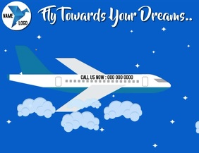 FLIGHT TRAVEL AGENCY FLYER VIDEO TEMPLATE