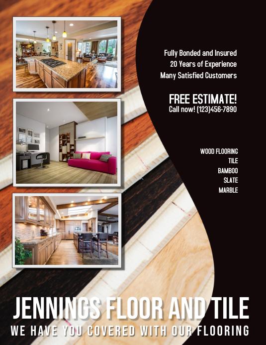 Flooring and Tile Advertisement Flyer 传单(美国信函) template