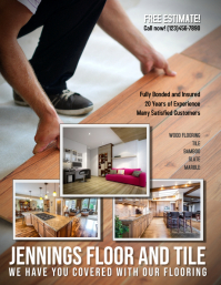 Flooring and Tile Advertisement Flyer