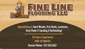 FLOORING COMPANY BUSINESS CARD TEMPLATE