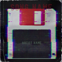 floppy disk Album cover art design template Okładka albumu