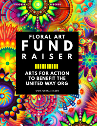 Floral Art Fundraiser Flyer
