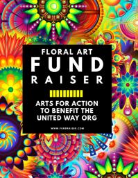 Floral Art Fundraiser Flyer template