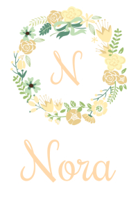 Floral Baby Name Poster