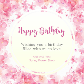 Floral Birthday Wish Instagram Template