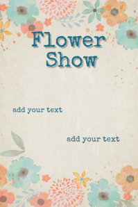 Floral border Flower Show MOTHER'S DAY INVITATION POSTER Póster template
