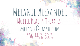 70 customizable design templates for makeup artist business card floral business card template accmission Gallery