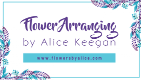 Floral Business Card Template Tarjeta de Presentación