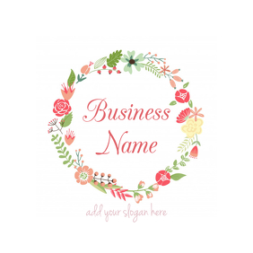 floral business logo template