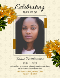 Floral Celebrating Life Flyer Template