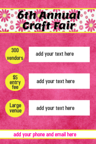 Floral Event Poster Retail Flyer