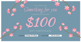 Floral Gift Voucher Facebook Shared Image template