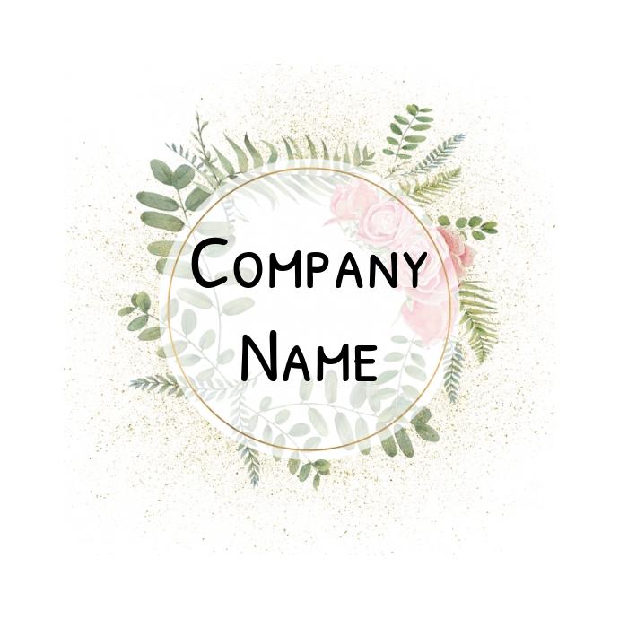 Floral glitter Logo template
