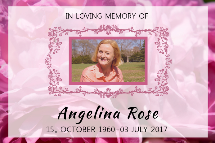 Шаблон floral in loving memory poster template postermywall