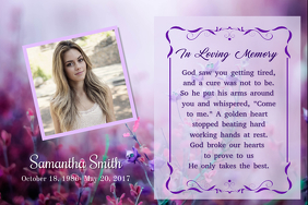 Floral In Loving Memory Poster Template  Funeral Poster Templates