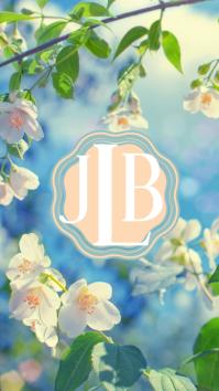 Floral Monogram Wallpaper Instagram-verhaal template