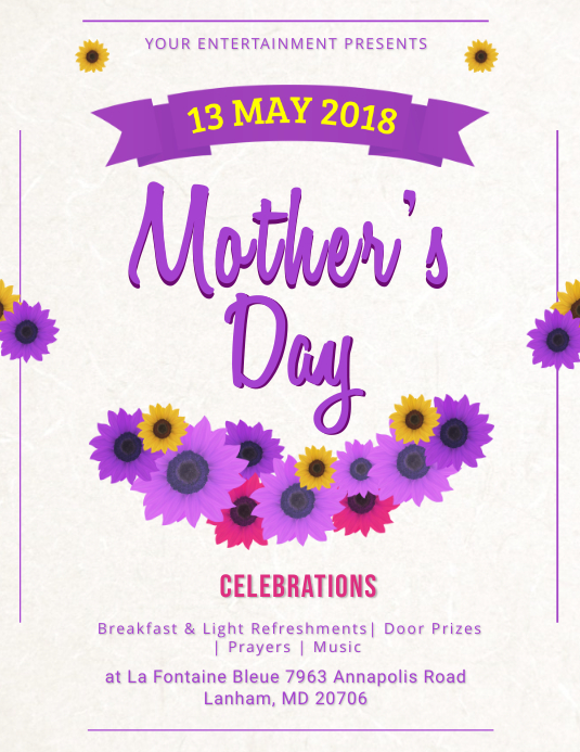 Floral Mother's Day Flyer template