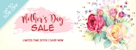 Floral Mother's Day Sale Facebook Cover template