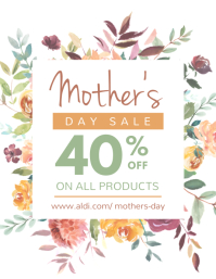 Floral Mother's Day Sale Flyer