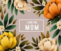 Floral Mothers day Rectángulo Mediano template