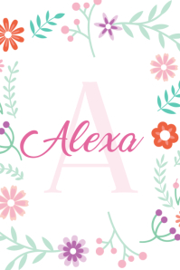 Floral Name Poster