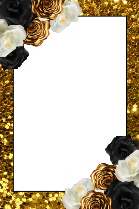 a29a38fdf7d Floral Party Prop Frame. Customize template