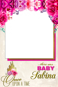 Floral Party Prop Frame