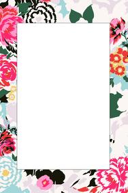 Floral Party Prop Frame
