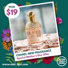 Floral Picture Frame Product Ad