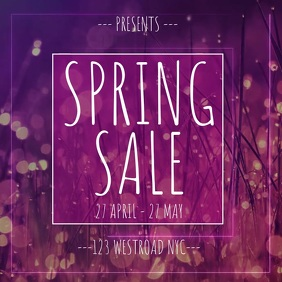 FLORAL PINK SALES EVENT TEMPLATE