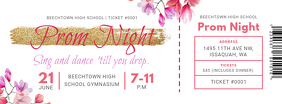 Floral Prom Night Ticket Facebook Cover Photo template